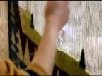 Silk Carpet Hand Weaving on Loom in Turkey video