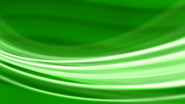 Silk Green Flowing Waves  Background (Loopable) video