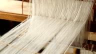 Silk loom machine video