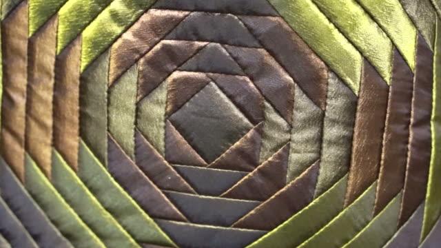 silk pattern green and shiny luxury fabric design video