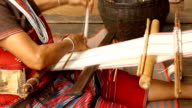 Silk weaving handmade process video