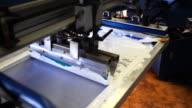Silkscreen Printing Press video