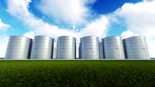 Silos and Time Lapse Clouds video