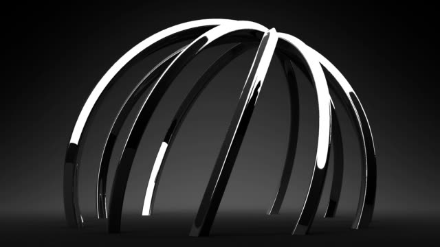 Silver Circle Abstract On Black Background video
