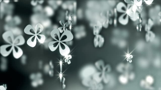 Silver Clover Background video