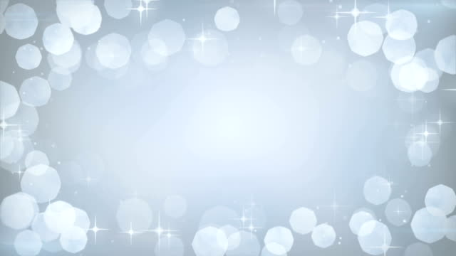 silver glitters frame festive loopable background video
