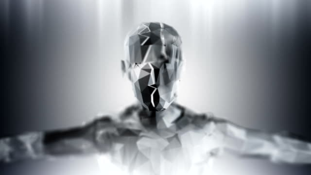 Silver loopable artificial inteligence background video