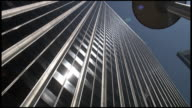 (HD1080i) Silver Office Towers: Push In video