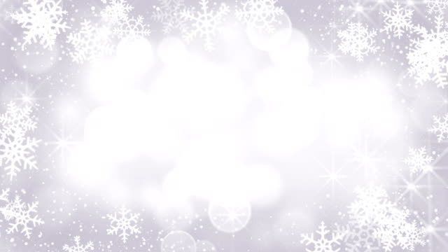 silver snowflakes frame loopable background video