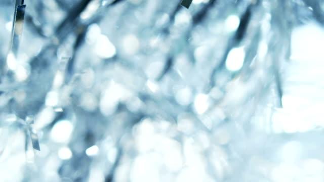 Silver tinsel detail video