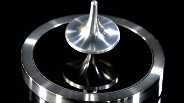 Silver Top Spins And Falls Close Up video