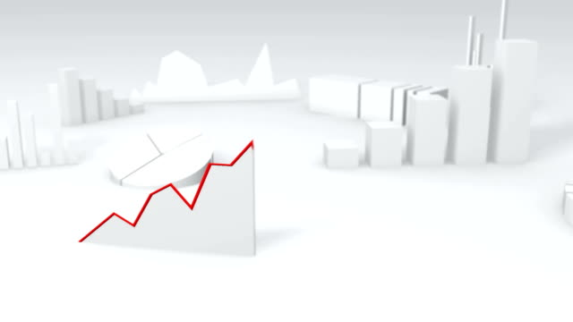 Simple 3D graph showing growth video
