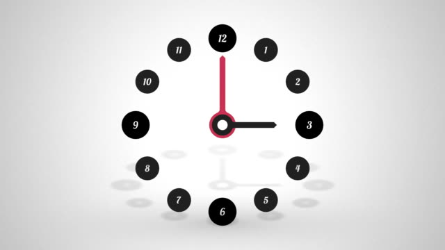 simple clock half a day video