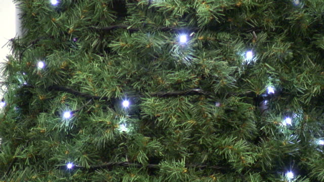 (HD1080i) Simple White Christmas / Holiday Tree lights Flashing video