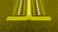 Simple yellow abstraction for Wireless Technology, Science, Social Networking etc. video
