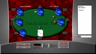 Simulated Online Poker Game video