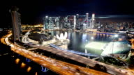 Singapore Aerial Panorama at Night video