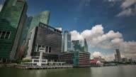 singapore bay cloudy sky day light 4k time lapse video