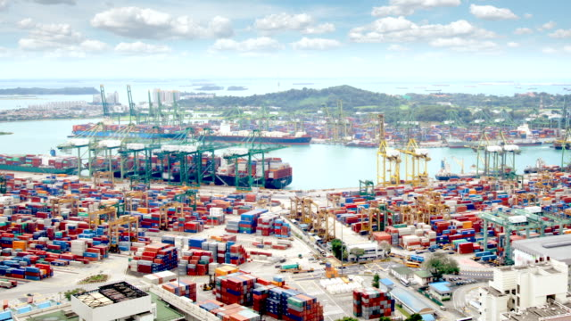 Singapore Docks and Shipping Containers video