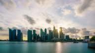 Singapore epic sunset time lapse 4K video