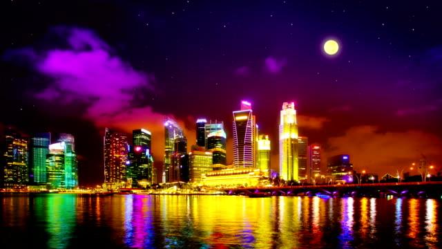 Singapore landmark view video