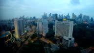 Singapore Skyline at Night video