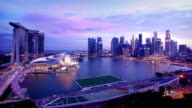 Singapore Skyline Timelapse video