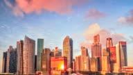 Singapore timelapse panorama. video