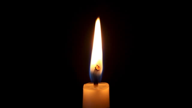 Single Candle Flame (Sharp Detail Macro HD) video