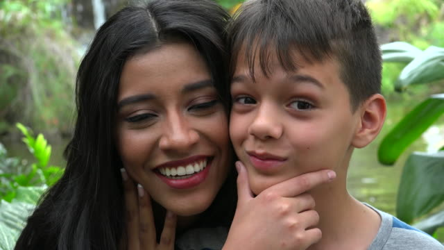 Single Mother And Son Funny Faces video