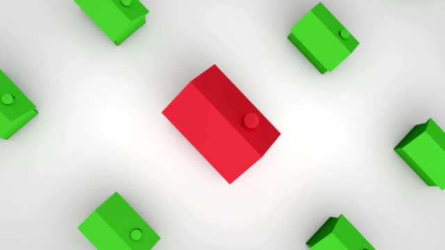 Single Red House Zoom-out HD video