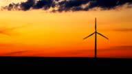 Single wind turbine in Iowa video