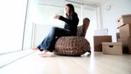 Single woman taking a break video