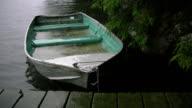 Sinking fishing boat. Good rain noises! video