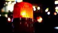 siren light on road video
