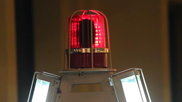 Siren light red flash video
