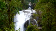 Sirithan waterfall one of the famous waterfall  at doi inthanon national park, mountain in chiangmai, thailand video