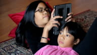 Sisters Spending Time Together In Living Room video