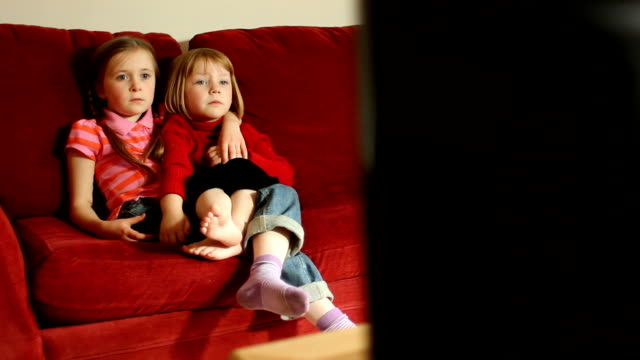 DOLLY: Sisters watching TV video