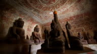 sitting buddha in Pho Win Taung Caves in Monywa, Mandalay video