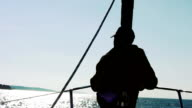 HD: Sitting On A Sailboat Bow video