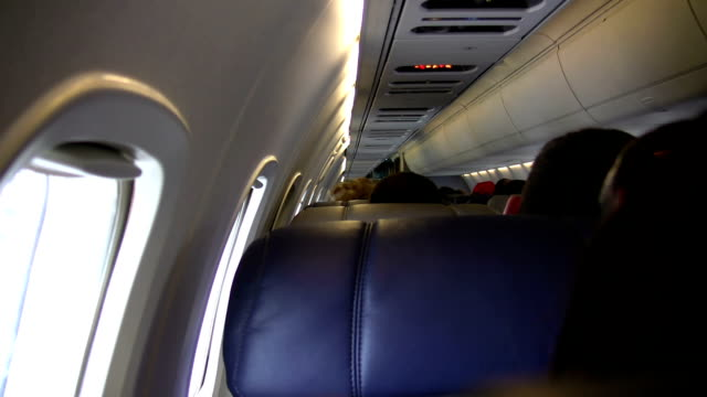 Sitting on the Inside of an Airplane video