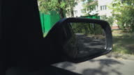 Sity area to the side of the vehicle video