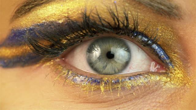 Six videos of beautiful eye in 4K video