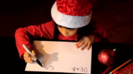 Six Year Old Asian Girl Writes Dear Santa Christmas Letter video