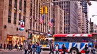 Sixth Avenue & 50nd Street Manhattan video