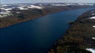 Skaneateles Lake - Aerial View - New York,  Onondaga County,  United States video