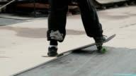 Skate board slide video