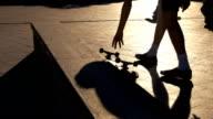 Skateboard on pavement. video