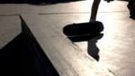 Skateboarder failed a trick. video